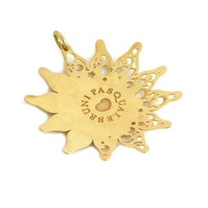 Pasquale Bruni Diamond 18k Yellow Gold Large Sun Pendant