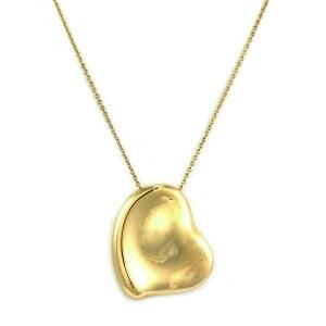 "Tiffany & Co. Peretti Full Heart 18k Yellow Gold Large Heart Pendant Chain 28"""