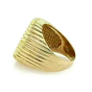 Estate Men's 22k Liberty Coin 14k Yellow Gold Fluted Design Ring