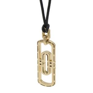 Bulgari Women's Parentesi 18k Gold Adjustable Black Cord Pendant Necklace