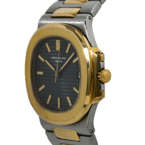 Patek Philippe Nautilus 3800/1 Blue Dial Mens Watch With Papers 37mm