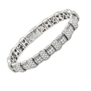Roberto Coin Diamond Appassionata Bracelet in 18k White Gold