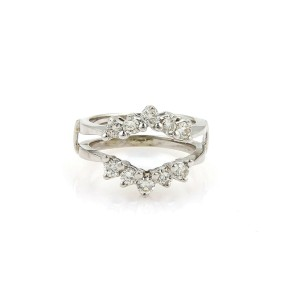 Diamond Insert 14k White Gold Ring