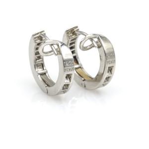 Tiffany & Co. Inside Out Diamond Hoop Earrings in Platinum ( .50 ct tw )