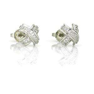 Tiffany & Co. X Diamond Stud Earrings in 18k White Gold