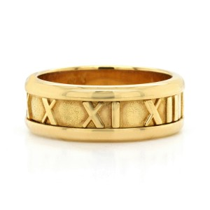 Authentic Tiffany & Co. 18K Yellow Gold Atlas Band Ring Size 6.5