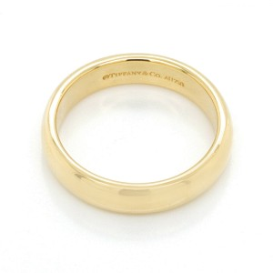 Authentic Tiffany & Co. 18K Yellow Gold Band Ring Size 7.5