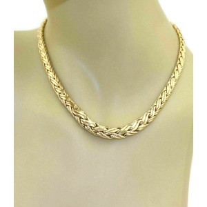 Vintage Tiffany & Co. Graduated Weave 14k Yellow Gold Necklace