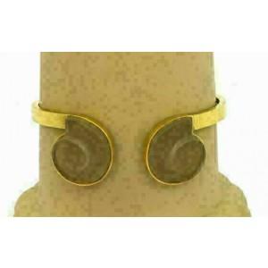 Lalaounis 18k Yellow Gold Frost Rock Crystal Fancy Cuff Bracelet