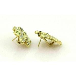 Siedengang Diamonds Green Tourmaline & Peridot 18k Yellow Gold Fancy Earrings