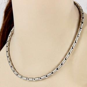 Zankan Polished & Brushed 18k White Gold Necklace