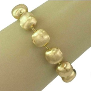 "Marco Biecgo Africa 18k Yellow Gold Large Beaded Bracelet 8"" Long"