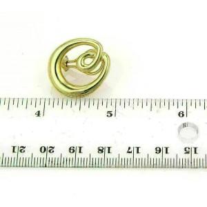 Tiffany & Co. Double Loop Open Oval 18k Yellow Gold Earrings