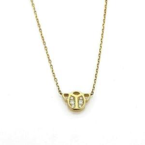 Cartier Diamond 18k Yellow Gold Scarab Pendant w/Paper
