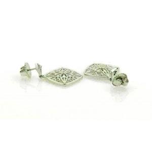 Hearts On Fire Diamond Potpourri 18k White Gold Dangle Earrings Rt. $5,100