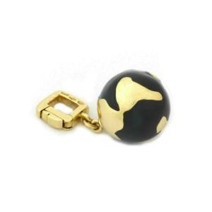 Louis Vuitton Enamel 18k Yellow Gold Globe Charm Pendant