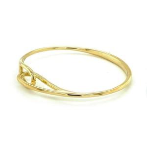 Tiffany & Co. 18k Yellow Gold Interlaced Double Loop Bangle Bracelet
