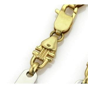 Bar & Stirrup 18k Two Tone Gold Link Bracelet