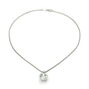 Chopard Happy Diamond 18k White Gold Round Diamond Bezel Pendant