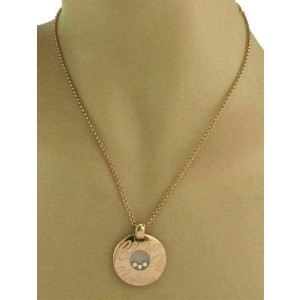 Chopard Happy Diamond 18k Rose Gold 3 Floating Diamond Round Pendant