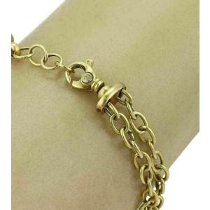 Nouvelle Bague Diamond Enamel 18k Gold Bar Sterling Chain Bracelet