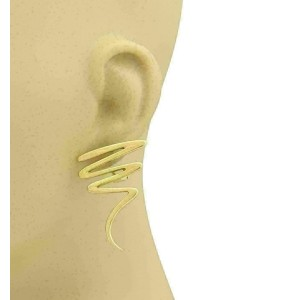 Tiffany & Co. Picasso 18k Yellow Gold Zig Zag Long Post Clip Earrings