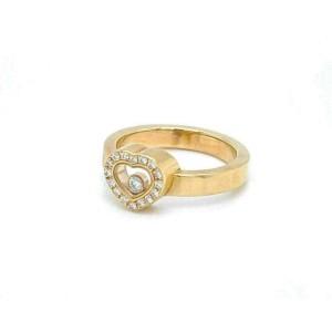 Chopard Happy Diamond 18k Yellow Gold Diamond Heart Bezel Ring