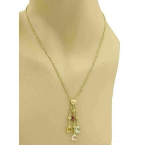 Marco Bicego Paradise Multicolor Gems 18k Yellow Gold Pendant