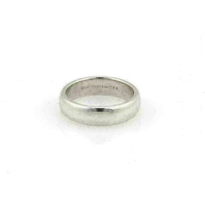 Tiffany & Co. Platinum 5.8mm Wide Dome Wedding Band Ring