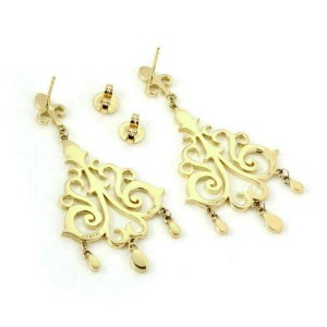 Tiffany & Co. Enchant 18k Yellow Gold Chandelier Dangle Earrings
