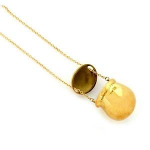 Tiffany & Co. Peretti 18k Yellow Gold Slide Cover Pot Pendant Necklace
