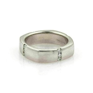 Hearts on Fire Men's Duets Linear Diamond 18k White Gold Band Ring Rt. $4,500