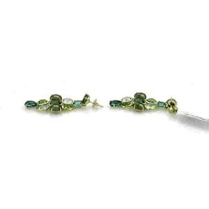 Ippolita Gelato Multicolor Gems Chandelier 18k Yellow Gold Earrings