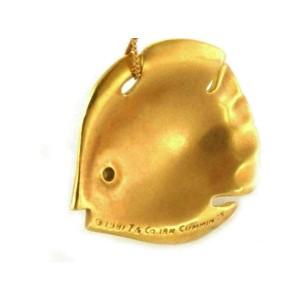 Tiffany & Co. Cummings Vintage 18k Yellow Gold Fish Pendant