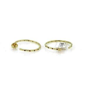 Ippolita Glamazon Stardust Orange Sapphire 18k Gold Hoop Earrings