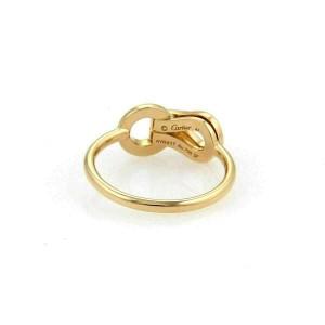 Cartier Agrafe Diamonds 18k Rose Gold Ring Size 47