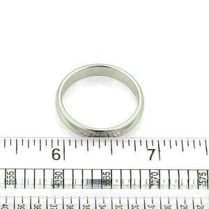 Tiffany & Co. Platinum 4mm Wide Wedding Dome Band Ring