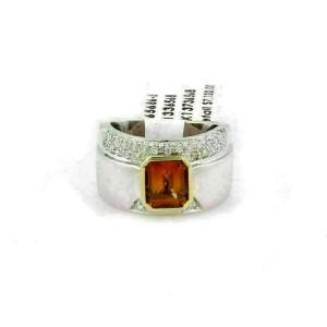 Koesis 2.85ct Emerald Citrine & Diamond 18k Gold Ring