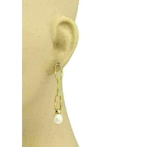 Marco Bicego Large Oval Link Pearls 18k Gold Dangle Earrings