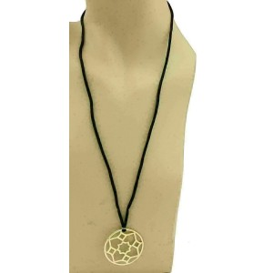 Tiffany & Co. Picasso Zellige 18k Gold Medallion Pendant & Cord Necklace