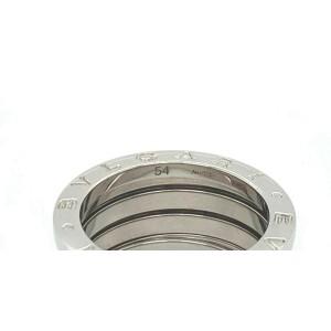 Bvlgari B.zero1 Wide 18k White Gold Four Band Ring Size 52
