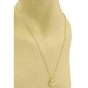 Salvini Diamond 18k Yellow Gold Butterfly Pendant & Chain Necklace