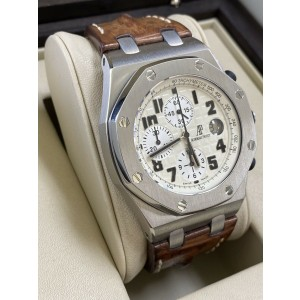 Audemars Safari Royal Oak Offshore 26020ST.OO.D091CR.01 With Box And Papers