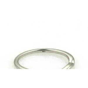 Hearts on Fire Flat Curved 18k White Gold Band Ring