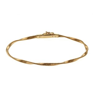 "Marco Bicego Marrakech Collection 18K Rose Gold Stackable Bangle Bracelet Size7"""