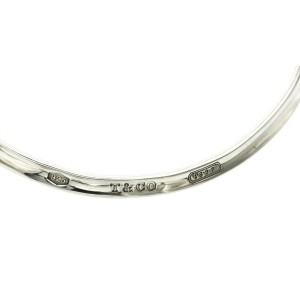 "TIFFANY & CO. 1837 Cuff Collar Choker 925 Sterling Silver Necklace Size 15"""
