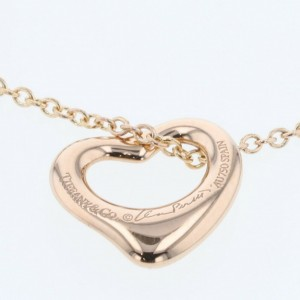 TIFFANY & Co. 18k Rose Gold Open heart Necklace