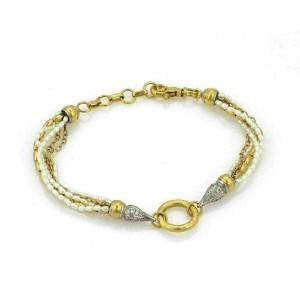 Gurhan Diamond 24k & 18k Gold Pearls Multistrand Bracelet