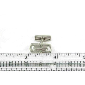 Bvlgari Parentesi Sterling Silver Long Top Cufflinks