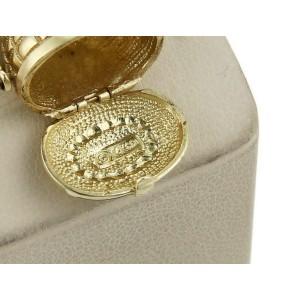 Vintage 14k Yellow Gold Open & Close Basket Charm Pendant
